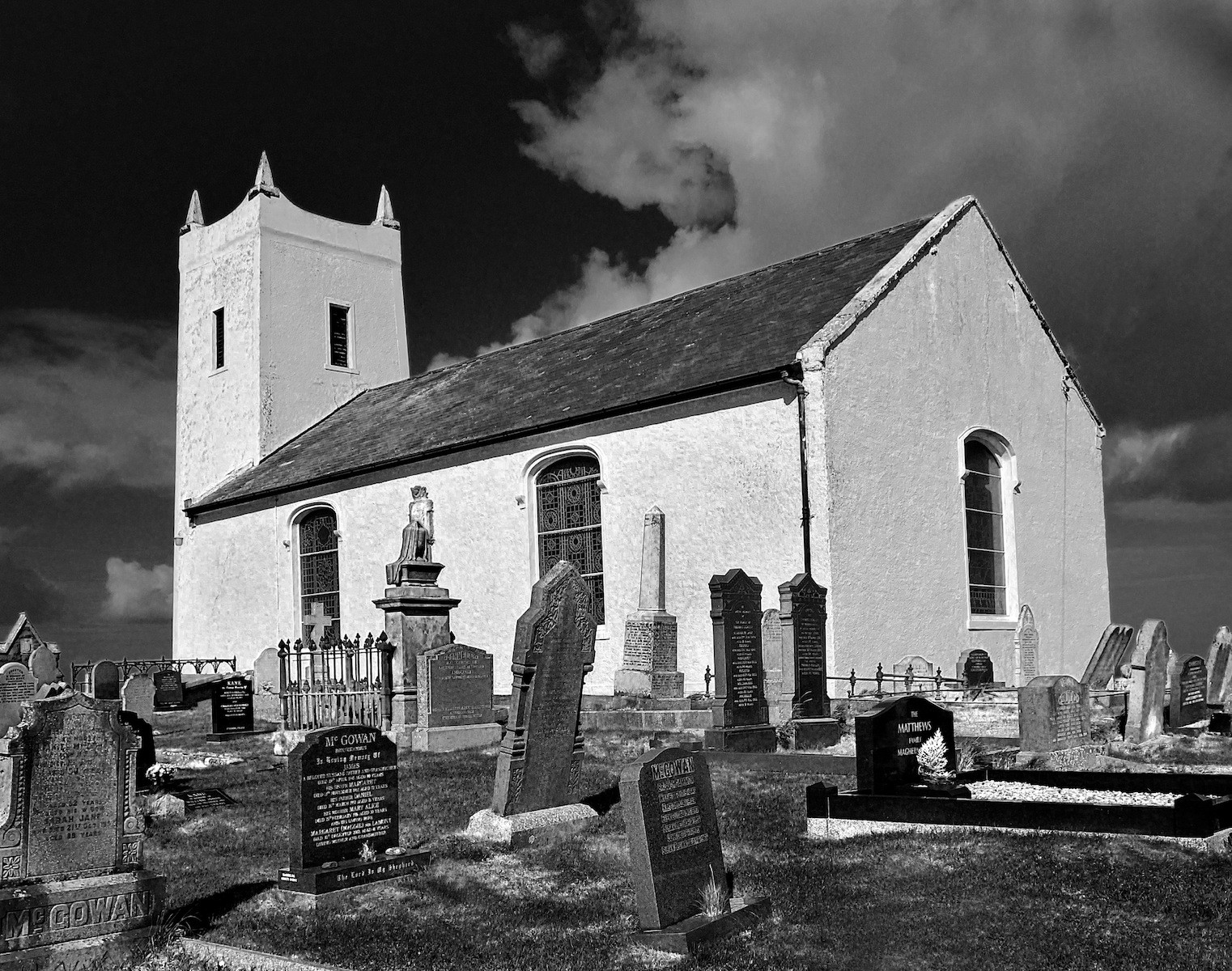MONO - Ballintoy Church by Ken Best (9 marks)