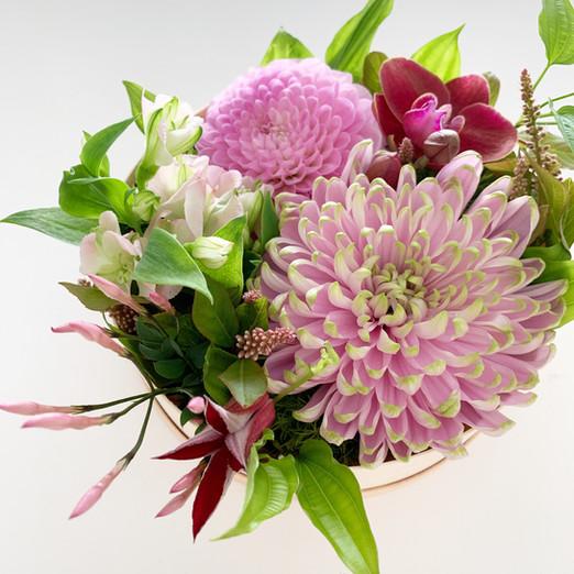 母の日のお花「花わっぱ」販売いたします。