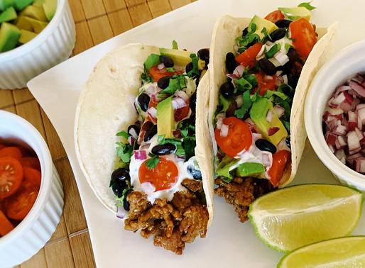 Black Bean Beef Tacos
