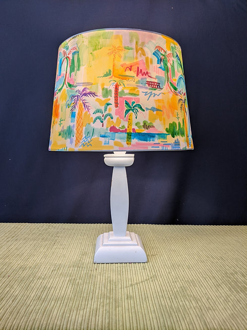 Palm Tree Paradise hand painted lampshade