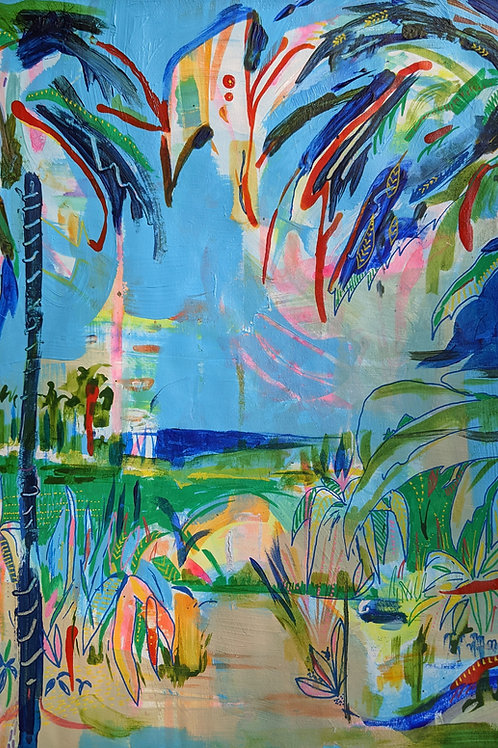 Beyond the Palm Trees - Fine Art Print