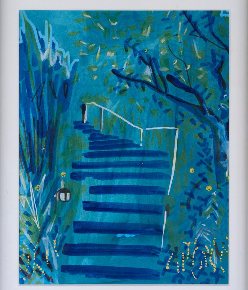 Steps in Blue