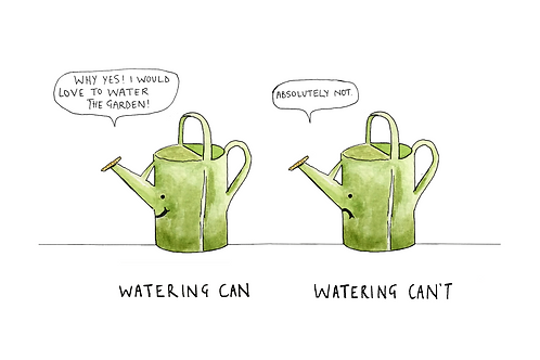 Watering Can't Card.