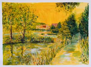Glyndebourne Lake in Yellow.jpg