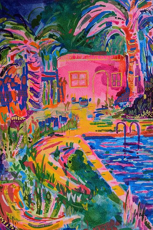 Pink House I - Fine Art Print