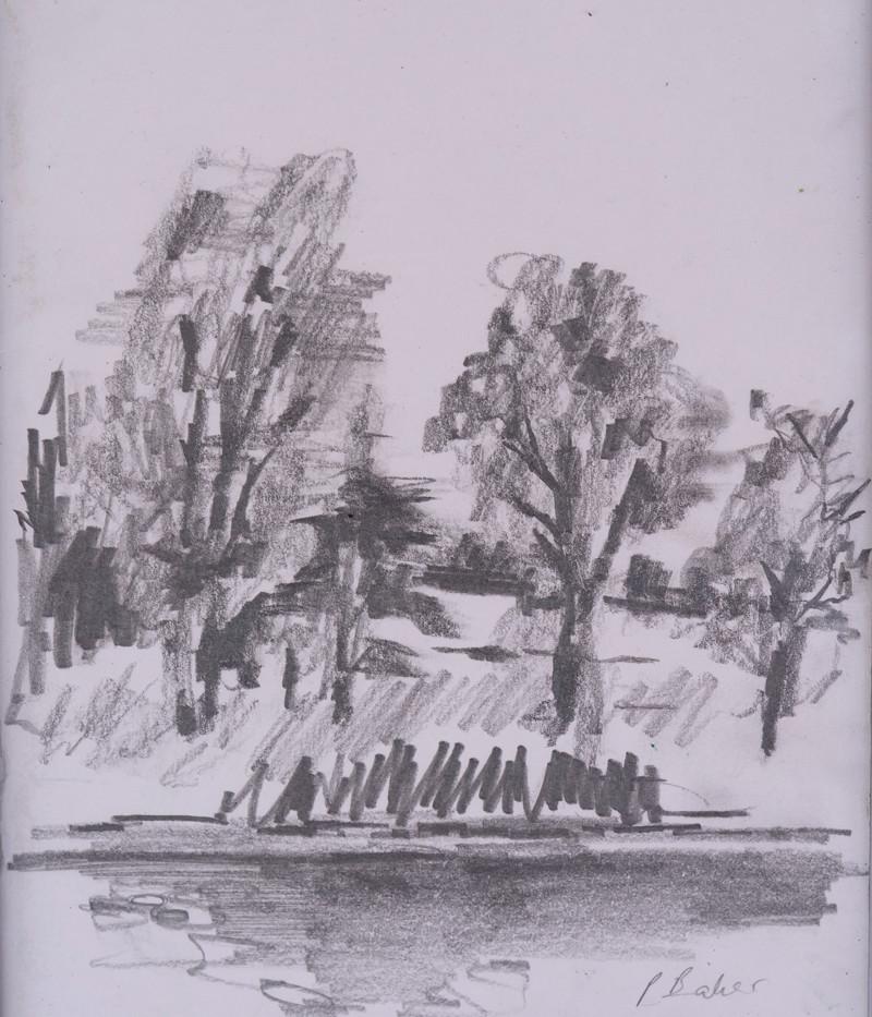 Trees across the lake II