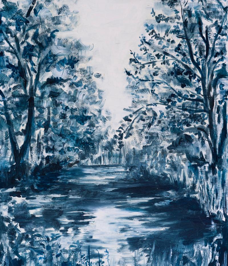 SOLD: Glyndebourne Lake in Blue, 2020