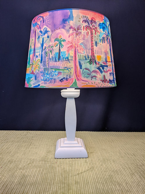 Miami Barbie hand painted lampshade