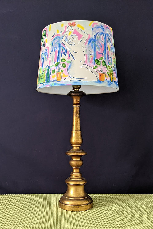 Plants and Ladies hand painted lampshade SOLD OUT