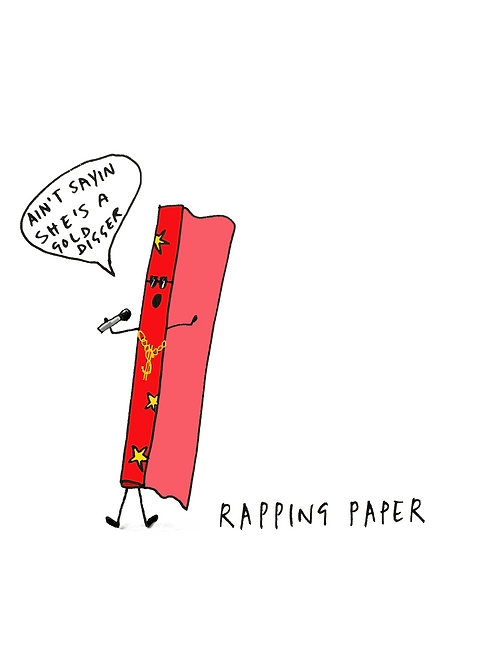 Rapping Paper Card