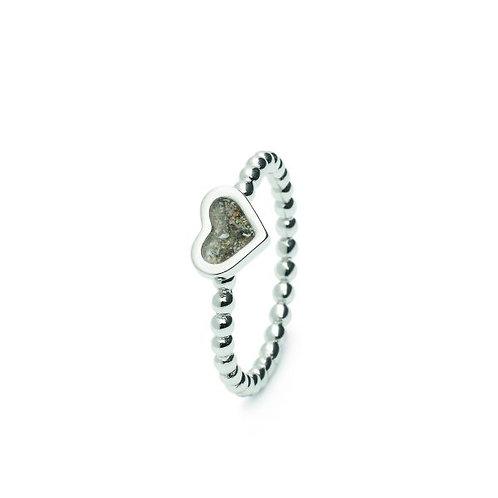 zilveren ring hartje