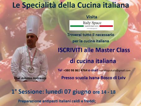 Master Class di cucina italiana presso Italy Space Lviv