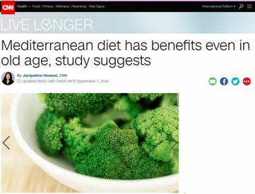 Mediterranean diet, old age
