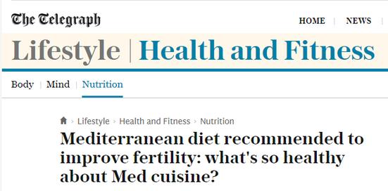 Mediterranean diet improves fertility