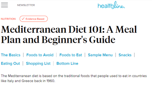 Mediterranean diet 1on1