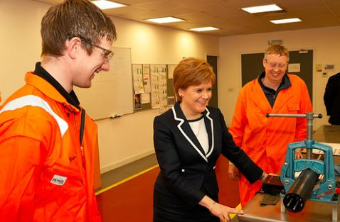 First Minister of Scotland meets some of the Zilift team