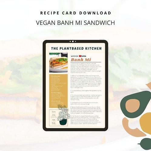 Vegan Banh Mi Recipe Download - PDF