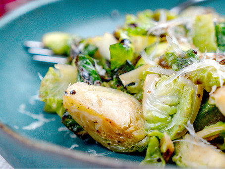 Vegan Balsamic & Parmesan Brussel Sprouts