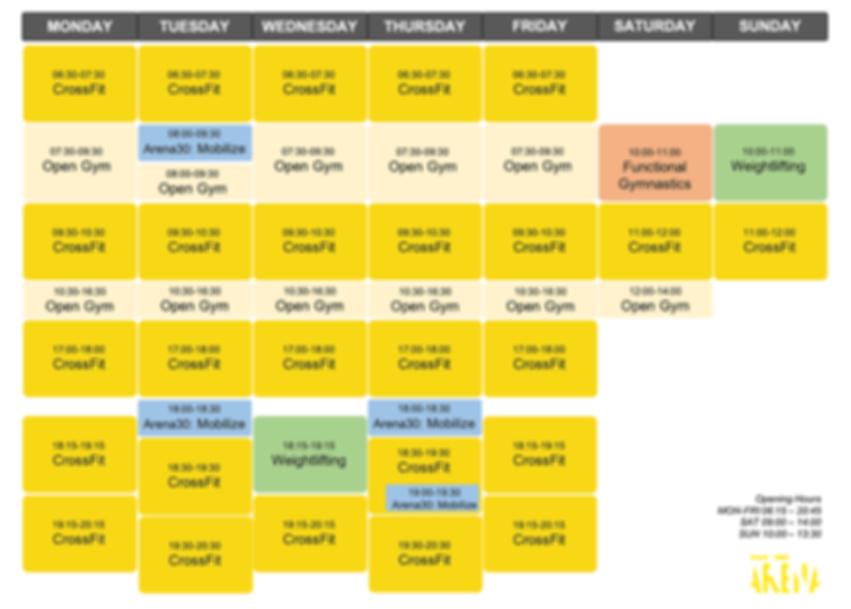 new schedule 2020