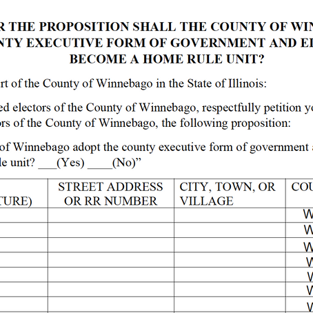 County Executive form of Government - Letting the People Decide