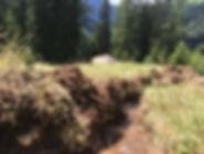 Fröhlich dahinplätschernder Waal am Bergmahd Ocherloch