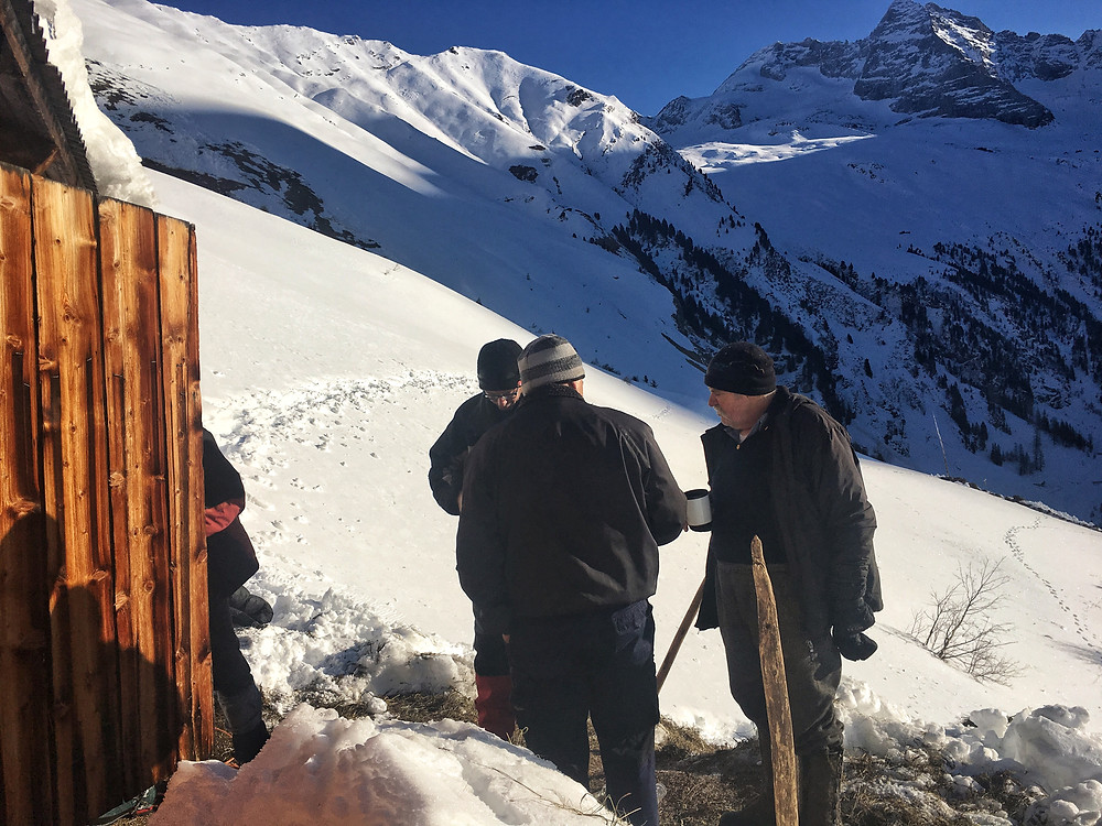 Das Panorama im Inneren Valsertal