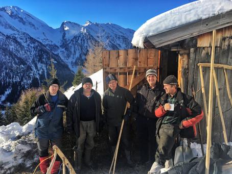 Heuziehen in Vals und ein Nachtrag zum Felssturz