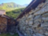 Stallgebäude auf der Zeischalm in Trockensteinmauer-Ausführung