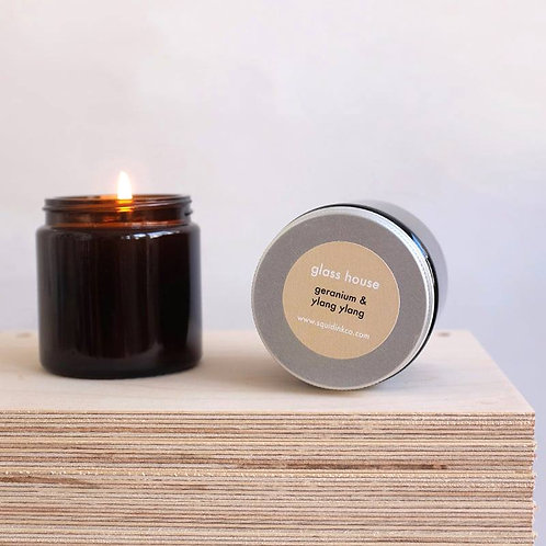 Essential Oils Soy Candles, Glass House