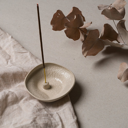 Small Stoneware Incense Holder