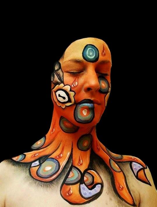 Octopus Face Paint