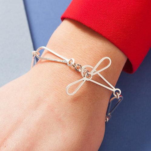 Shape on Shape Bracelet - Trilozenge with circle