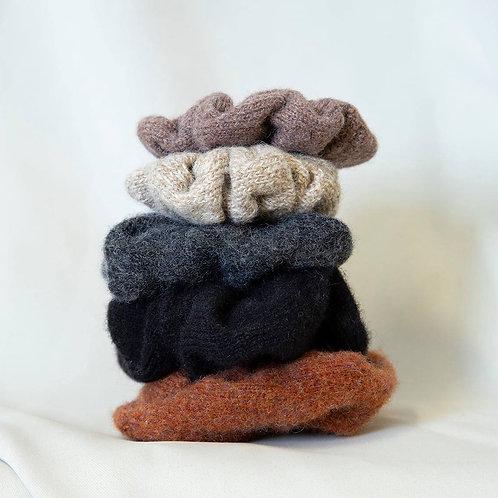 Wool Scrunchies.