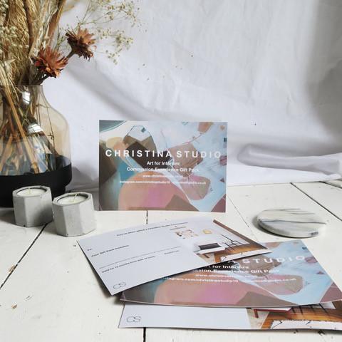 Glasgow artist interior modern Christina Gift Card