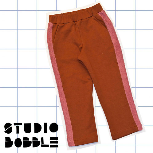 Brown/Pink Towelling Trousers