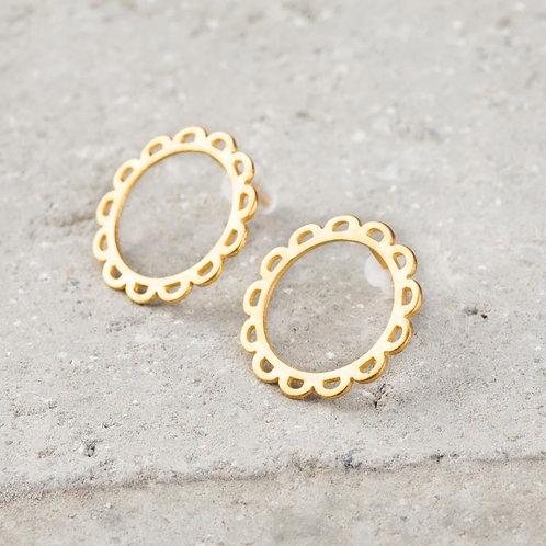 Daisy Gold Stud Earrings