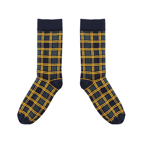 Tartan Green Socks - UK 3.5-7