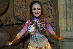 Beauty and the Beast Body Paint