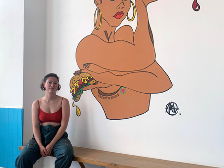 Molly Hankinson unveils new Mural for Glasgow Vegan Street Food Legends Freddy & Hicks