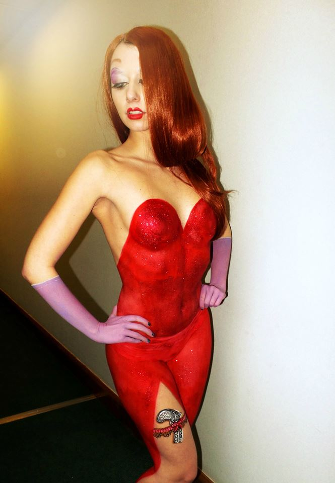 Jessica Rabbit Body Paint