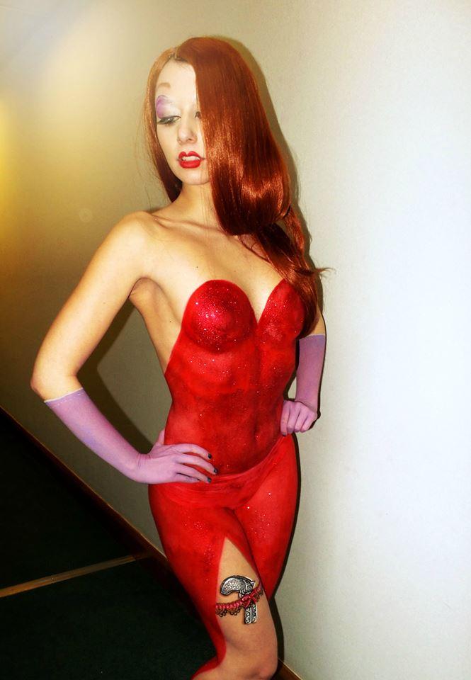 Jessica Rabbit Body Paint