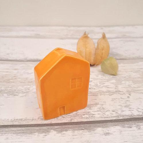 Orange House House Ornament