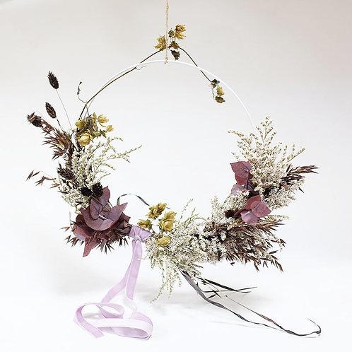 White Winter Ring Wreath