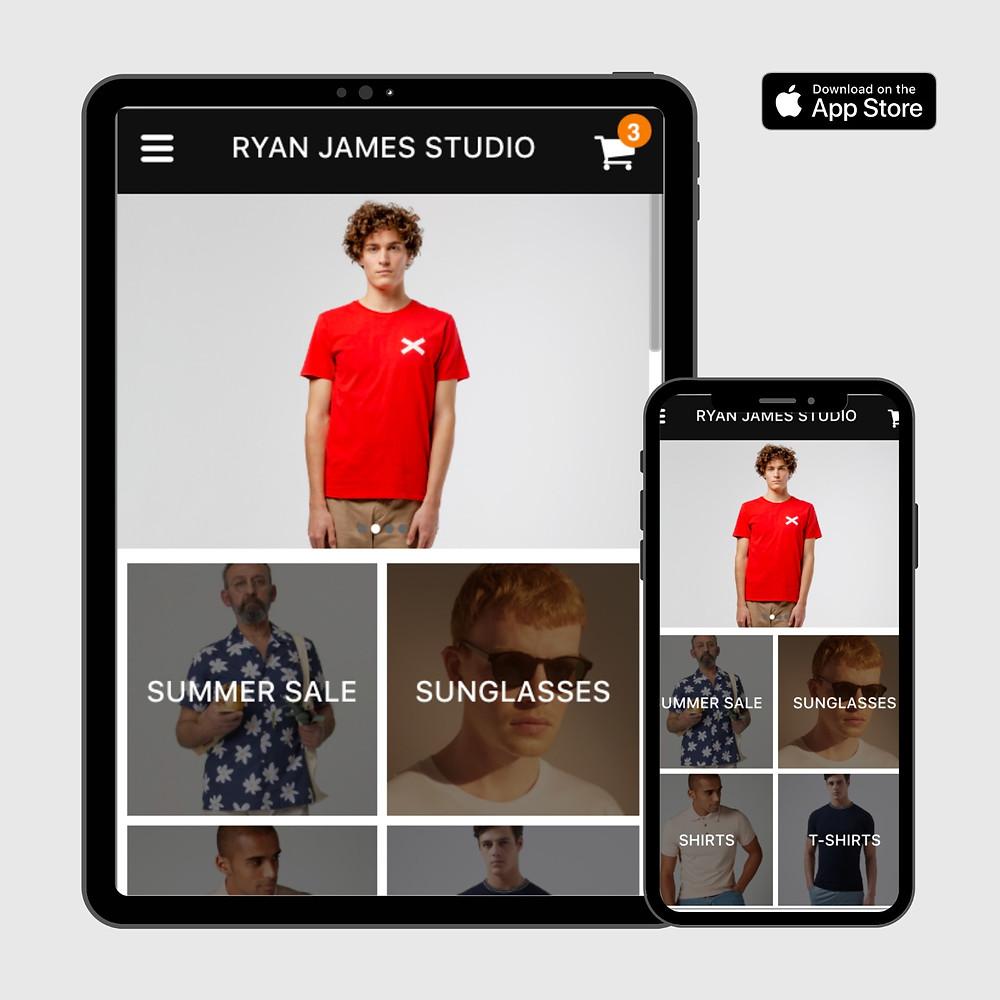 Ryan James Studio Menswear App Glasgow Shop