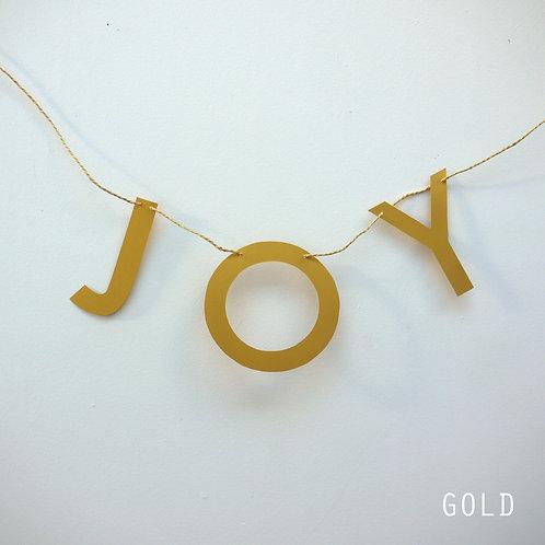 Joy letter banner