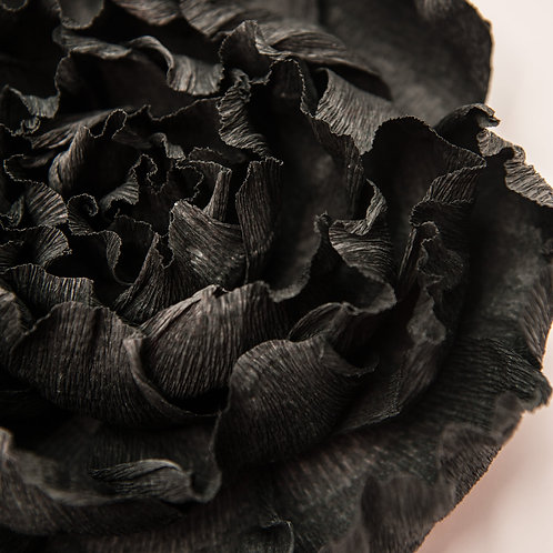 Big Paper Flower - Black