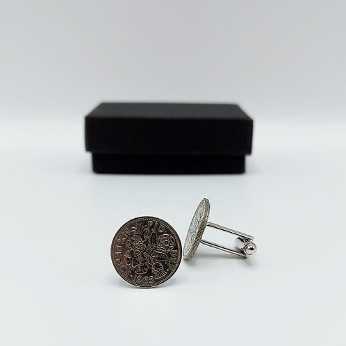 1965 Upcycled Vintage Coin Cufflinks
