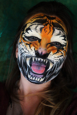 Roaring Tiger Face Paint