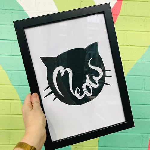 A4 Meow print