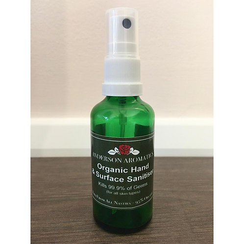 Organic Hand & Surface Sanitiser - Kills 99.9% of Germs